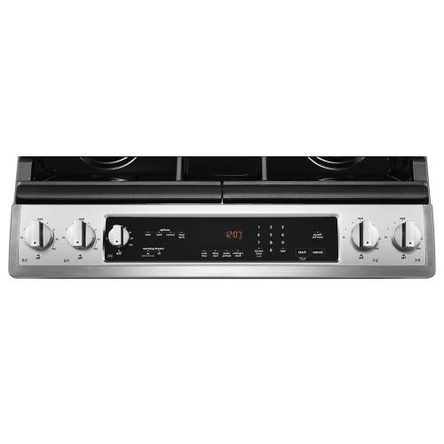 Maytag - 30-inch Wide Electric Range with Convection and Fit System - 6.4 cu. ft.