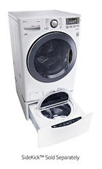 LG WM3570HWA Laundry Front Load Washer 4.3 cu. ft. Ultra Large Capacity TurboWash Washer w/ NFC Tag On