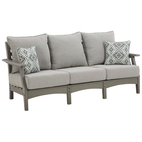 Signature Design By Ashley - Visola Outdoor Sofa With Cushion