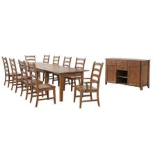 See Details - Rectangular Extendable Table Dining Set w/Sideboard - Amish (12 Piece)