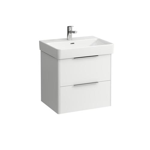 Traffic Grey Vanity unit, 2 drawers, incl. drawer organizer, matching washbasin 810963