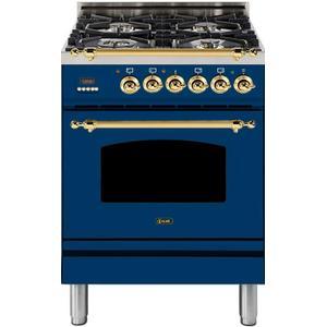 24 Inch Blue Dual Fuel Natural Gas Freestanding Range