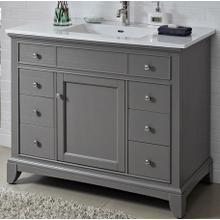 "See Details - Smithfield 42"" Vanity - Medium Gray"