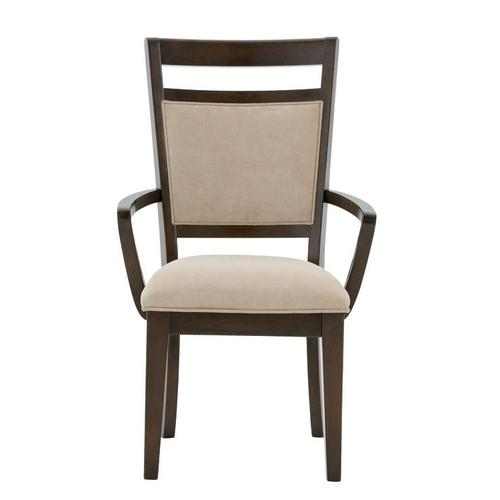 Standard Furniture - Avion 2-Pack Upholstered Arm Chairs, Cherry Brown