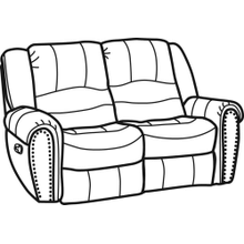 Hometown Fabric Reclining Loveseat