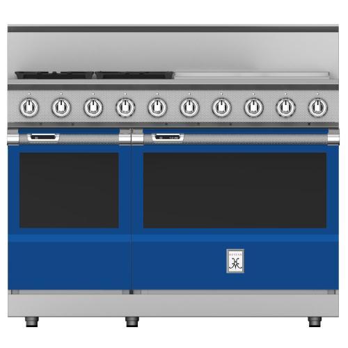 """48"""" 4-Burner Dual Fuel Range with 24"""" Griddle - KRD Series - Prince"""