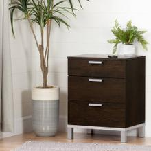 Nightstand Charging Station - Brown Oak