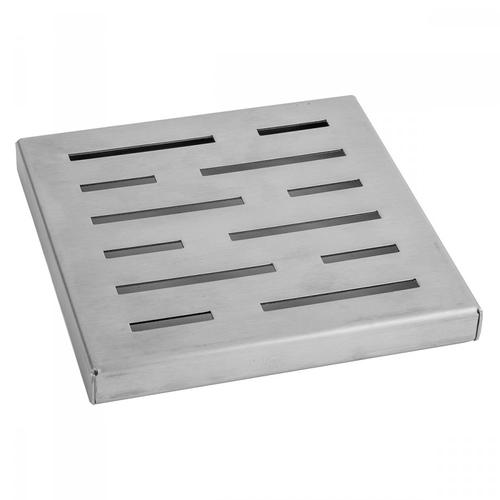 """Polished Stainless - 6"""" x 6"""" Slotted Channel Drain Grate"""