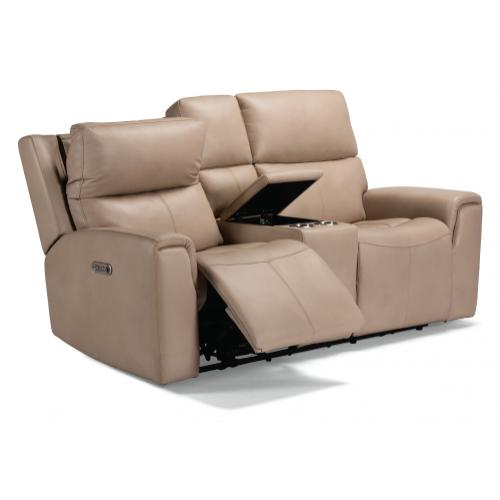 Jarvis Power Reclining Loveseat with Console & Power Headrests