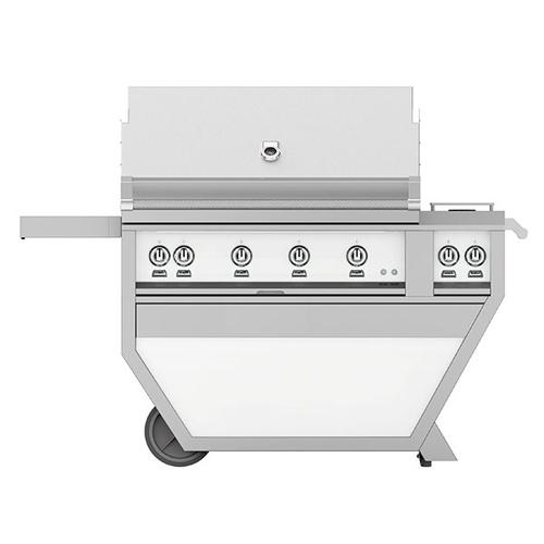 """Hestan - 42"""" Hestan Outdoor Deluxe Grill with Double Side Burner - G_BR__CX_ Series - Froth"""