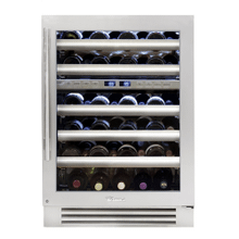 24 Inch Dual Zone Stainless Glass Door Right Hinge Undercounter Wine Cabinet