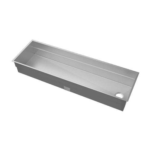 "SmartStation® 005405 - undermount stainless steel Kitchen sink , 60"" × 18 1/8"" × 10"" (Maple)"
