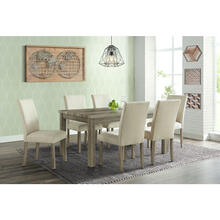 Cambridge Wyeth Dining 7-Piece Set in Natural Rustic with Table and 6 Fabric Side Chairs, 982003-7PC-RUS