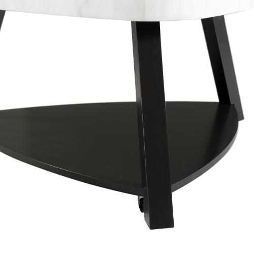 Elements - Trinity White Marble Top Coffee Table