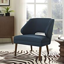 Dock Upholstered Fabric Armchair in Azure