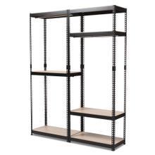 See Details - Baxton Studio Gavin Black Metal 7-Shelf Closet Storage Racking Organizer