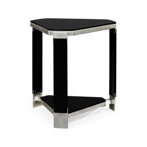 Triangular Black Gloss Side Table