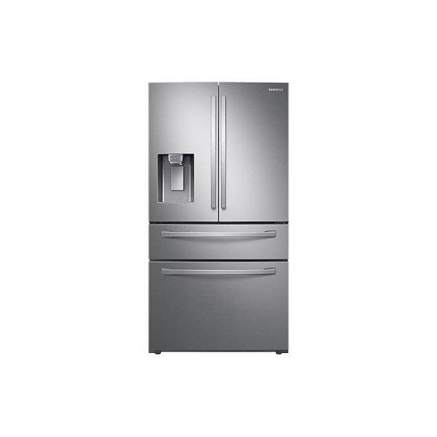 Samsung Appliances 22 cu. ft. Food Showcase Counter Depth 4-Door French Door Refrigerator in Stainless Steel