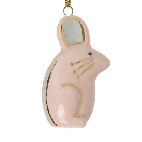 """1.25""""x 2.5"""" Light-Pink E+E Critter Ornament (Mouse Option)"""