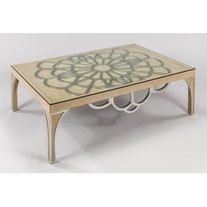 """Artmax - Coffee Table with Glass 54.5x36x16"""""""