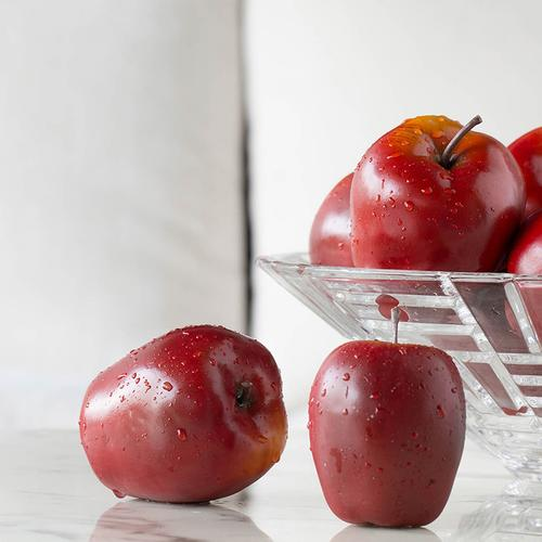 A & B Home - Faux Red Apples-9 pieces