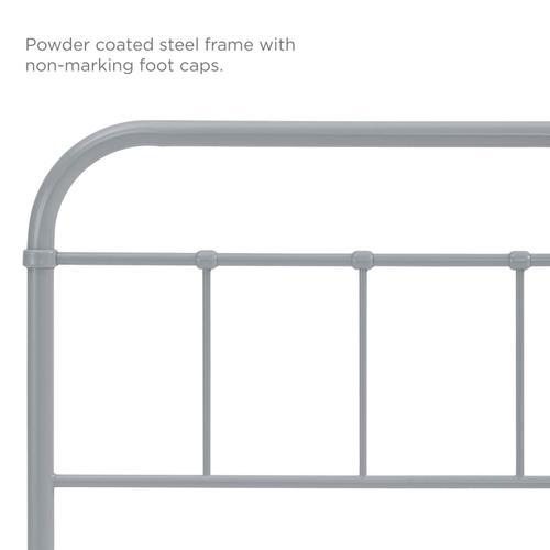 Modway - Serena Twin Steel Headboard in Gray