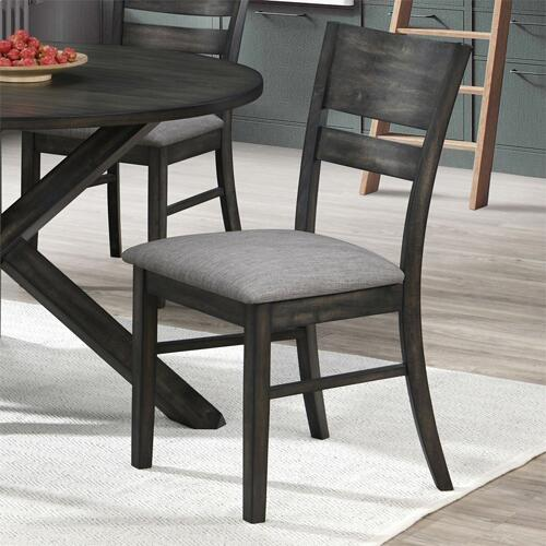Slat Back Uph Side Chair