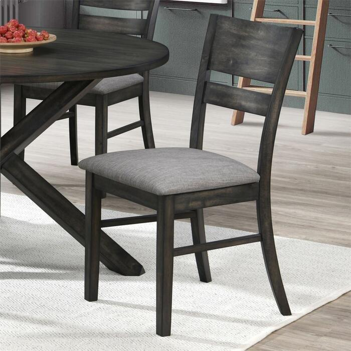 Slat Back Uph Side Chair