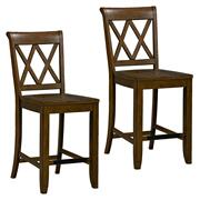 Vintage Distressed 2-Pack Brown Counter Height Stools Product Image