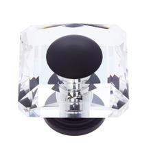 Oil Rubbed Bronze 50 mm Square Crystal Knob