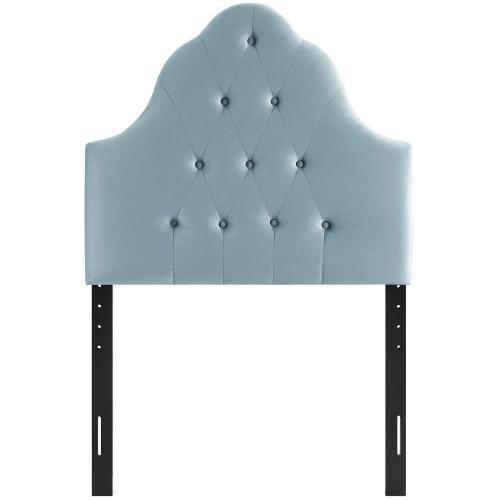 Modway - Sovereign Twin Diamond Tufted Performance Velvet Headboard in Light Blue