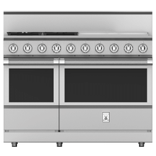"""See Details - 48"""" 4-Burner All Gas Range with 24"""" Griddle - KRG Series - Steeletto"""