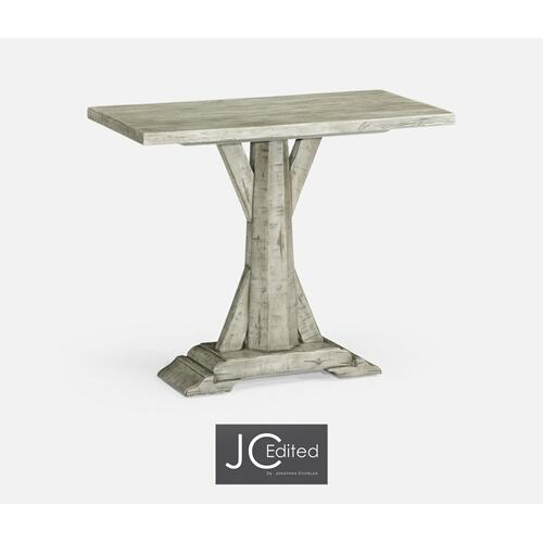 Rustic Grey Rectangular Side Table