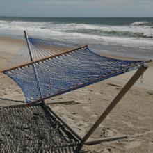 See Details - Large Original DuraCord Rope Hammock - Coastal Blue