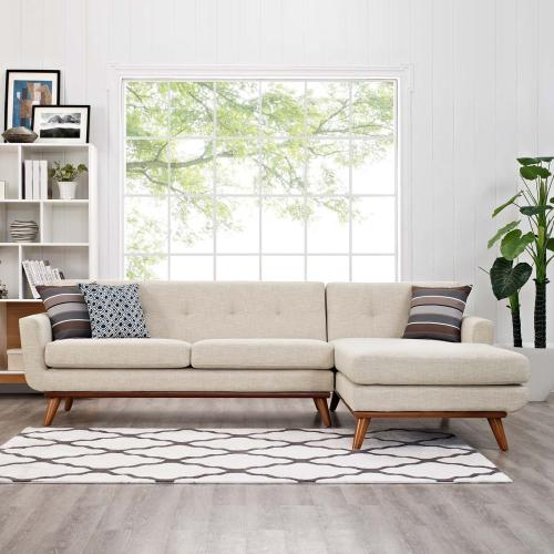 Engage Right-Facing Sectional Sofa in Beige