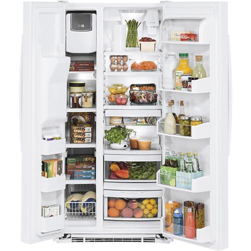 GE Appliances - GE® 23.2 Cu. Ft. Side-By-Side Refrigerator