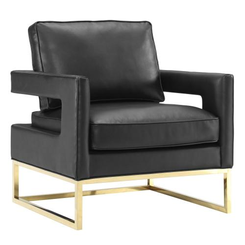 Avery Black Leather Chair