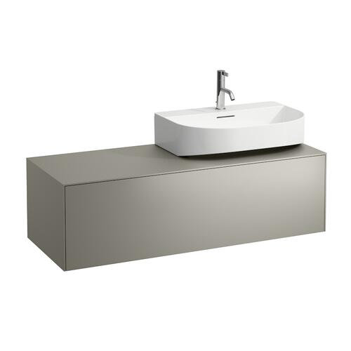 White Matte & Nero Marquina Drawer element, 1 drawer, matching washbasins 816341, 816342, cut-out left / right