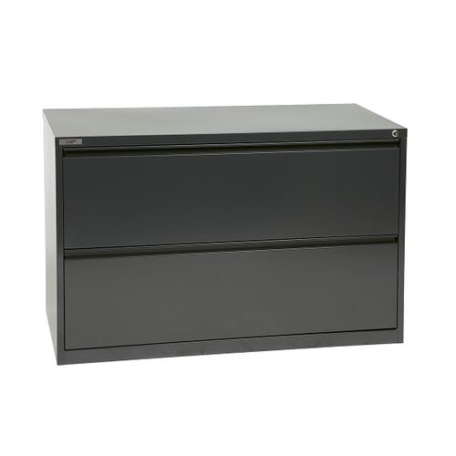 """42"""" Wide 2 Drawer Lateral File With Core-removeable Lock & Adjustable Glides"""