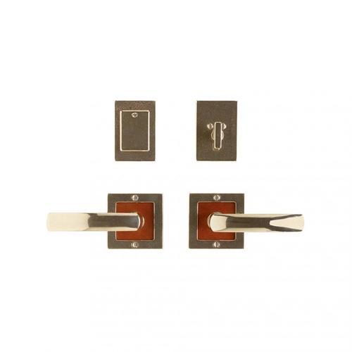 "Square Designer Entry Set - 3"" x 3"" Silicon Bronze Brushed with Basic"