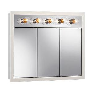 """36""""W x 30""""H - Classic White/Lighted Cabinet"""