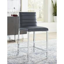 View Product - Amalfi Metal-Back Counter Stool with Cognac Finish