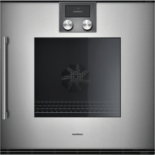 "200 series 200 series single oven Glass front in Gaggenau Metallic Width 24"" (60 cm) right-hinged"