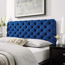 Lizzy Tufted Twin Performance Velvet Headboard in Navy