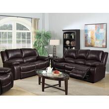 8026 BROWN 2PC Air Leather Living Room SET