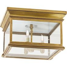 Visual Comfort CHC4129AB-CG E. F. Chapman Club 3 Light 13 inch Antique-Burnished Brass Flush Mount Ceiling Light in Clear Glass