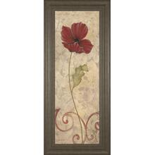 """Red Flower II"" Framed Print Wall Art"