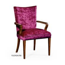 Biedermeier style walnut dining armchair (Fuchsia)
