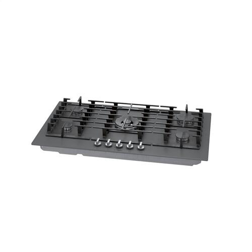 Benchmark® Gas Cooktop 36'' Tempered glass, dark silver NGMP677UC