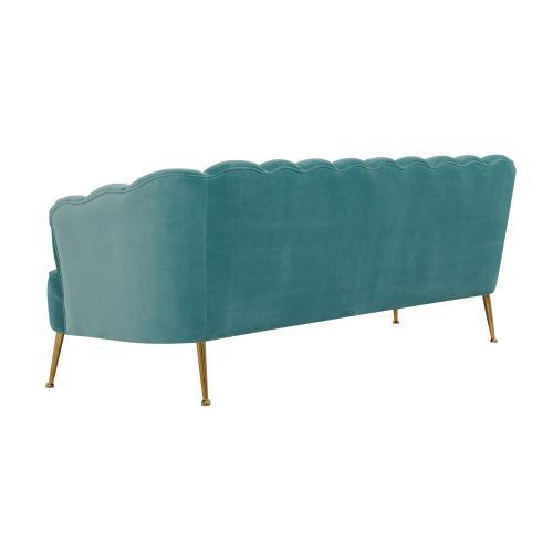 Daisy Petitie Sea Blue Velvet Sofa